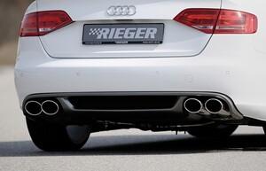 Раздвоенный глушитель Rieger для Audi A4 B8