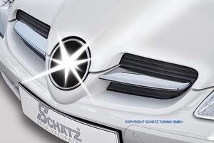Хромированные накладки на решетку радиатора Schatz для Mercedes SLK R171