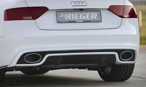 Раздвоенный глушитель Rieger для Audi A4 A5 B8