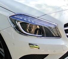 Хромированные накладки на фары Schatz для Mercedes A-Class W176