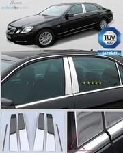 Хромированные накладки на дверные стойки Schatz для Mercedes E-Class W212