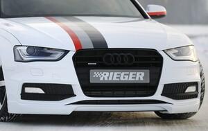 Накладка переднего бампера Rieger для Audi A4 B8 FL