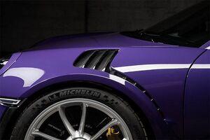 Вставки Techart в воздуховоды передних крыльев Porsche 991 GT3 RS
