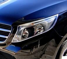 Хром накладки на фары Schatz для Mercedes V-Class W447