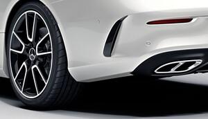 Накладки заднего бампера для Mercedes C-Class W205