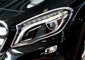 Хромированные накладки на фары Schatz для Mercedes GLA X156