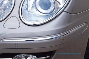 Хромированные накладки на передний бампер Schatz для Mercedes E-Class W211
