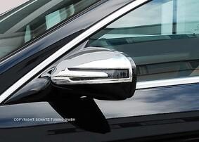 Хромированные накладки на зеркала Schatz для Mercedes SL и SLK