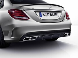 Диффузор с насадками C63 AMG для Mercedes C-Class W205
