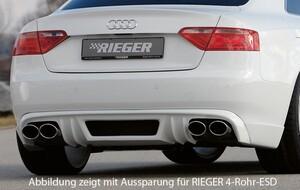 Накладка заднего бампера Rieger для Audi A5 Coupe B8
