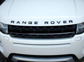 Черный шильдик Range Rover
