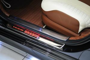 Накладки передних порогов Brabus для Mercedes S-Class