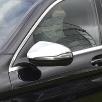 Хромированные накладки на зеркала для Mercedes