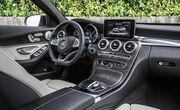 """Центральная консоль """"Черный ясень"""" для Mercedes W205"""